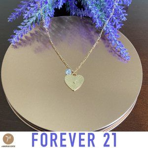 NWOT Dainty Gold Heart CZ Charm Choker Necklace